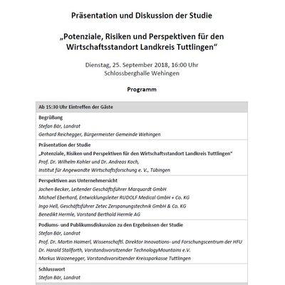 Programm Abschlussveranstaltung IAW-Studie